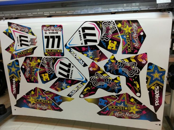 Suzuki Ltr 450 Rockstar Dc Shoes Multicolor Graphics Kit