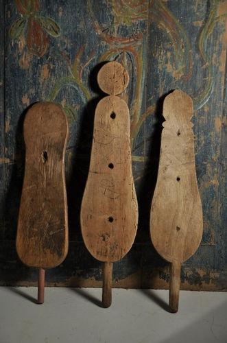 3 THREE Antique Wooden Spinning Wheel Wood Wooden Distaff