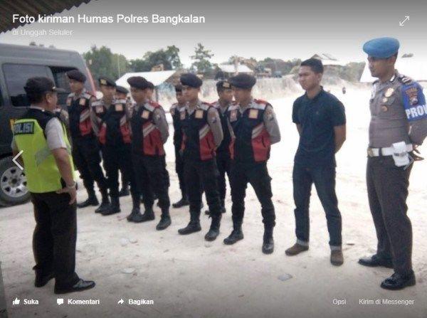 Demi rasa aman saat berkunjung di Wisata Bukit Jaddih,dsb. Disiapkan Pleton Siaga Regu 3 Polres Bangkalan !!