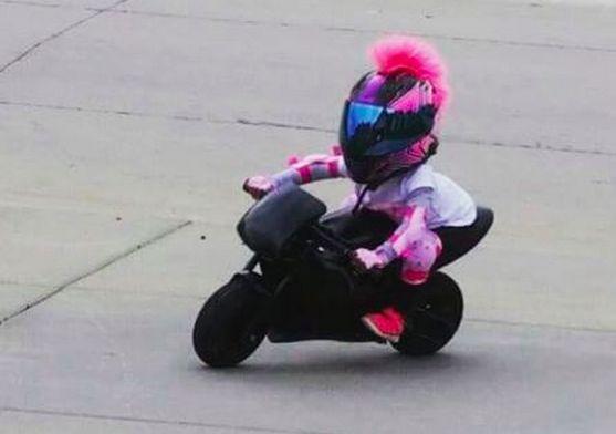 Girls Pink Motorcycle Helmets