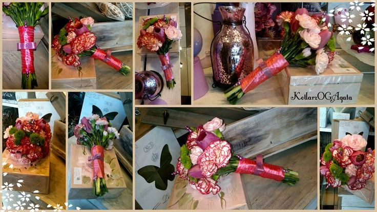 Mały bukiecik z goździka,tulipana,santinium.
