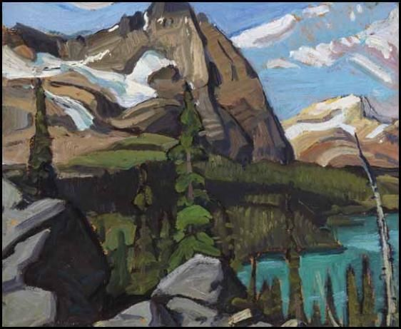 Arthur Lismer - Canadian Rockies, 1928, Oil on board1