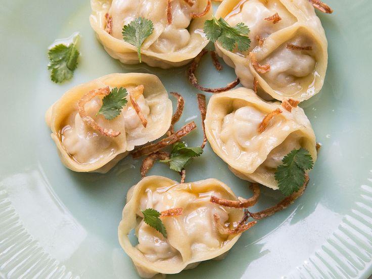 Steamed Pork Belly Dumplings in Brown Butter (Manti)