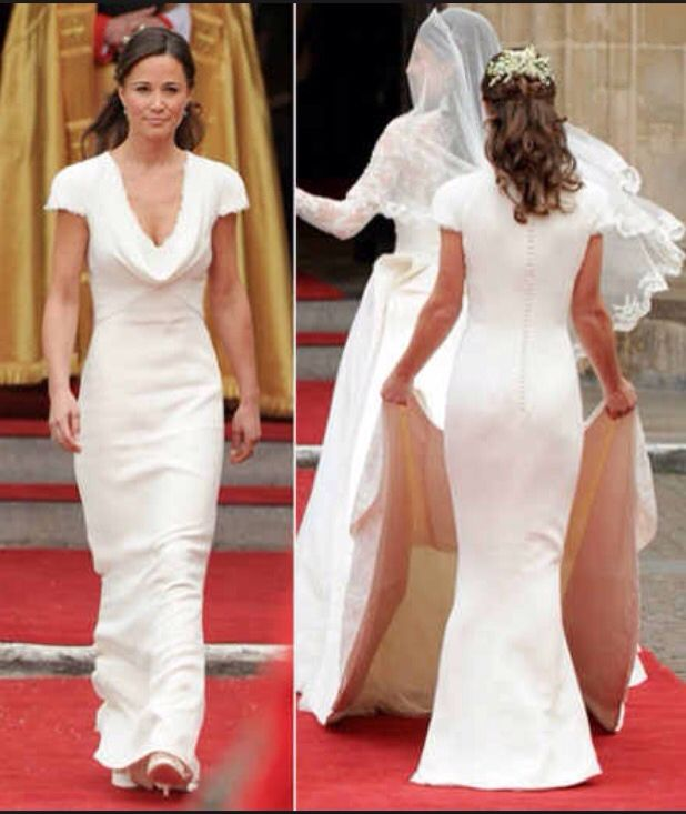 Pippa need i say anymore iconic and stand out for Kate middleton wedding pippa dress