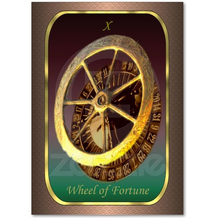 Cartes de profil de tarot - la roue de la fortune cartes de visite personnelle
