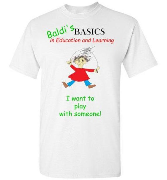 Kids T Shirt Inspired By The Charcters From The Game Baldi S