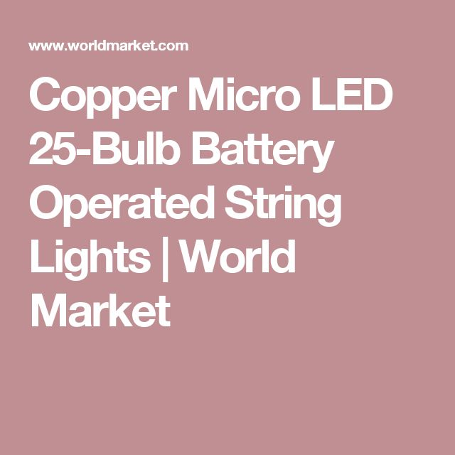 Copper Micro LED 25-Bulb Battery Operated String Lights | World Market