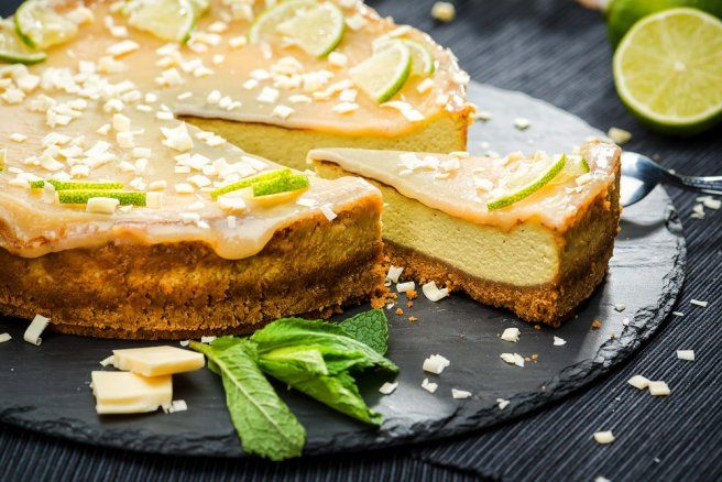 Cheesecake cu avocado si caramel cu lime- reteta video - Galerie foto