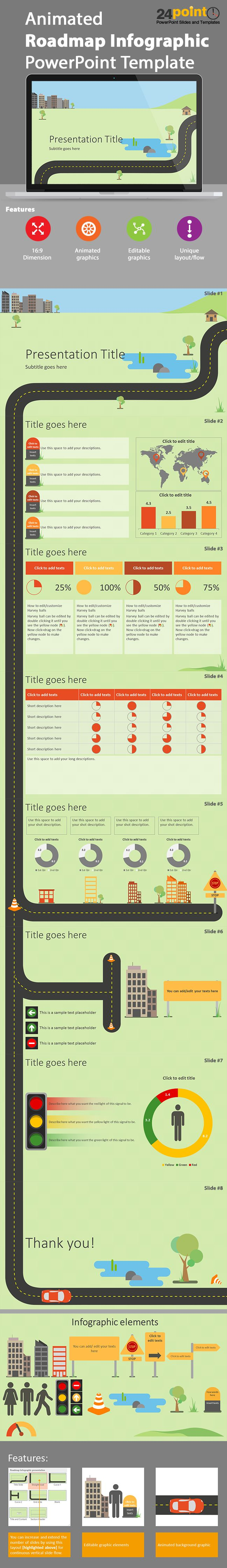 Animated Infographics PowerPoint Presentation Template @24point0