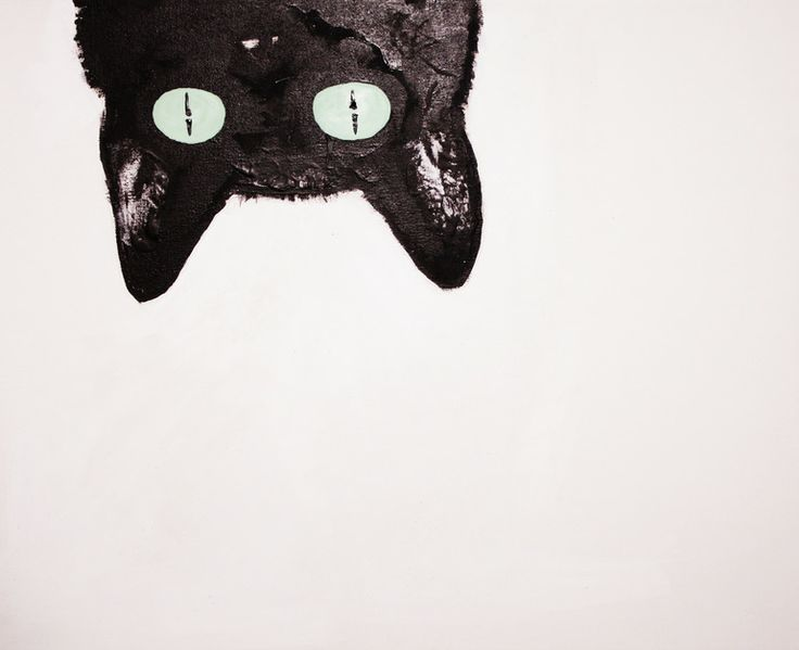 "Carla Baca; Acrylic, 2010, Painting ""Here kitty."""