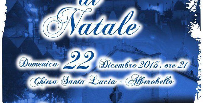 Concerto di Natale per Alberobello. Location: Chiesa Santa Lucia - Piazza San Girolamo.