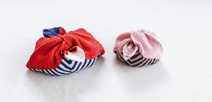あずま袋のお弁当入れ   編み物キット販売・編み方ワークショップ イトコバコ