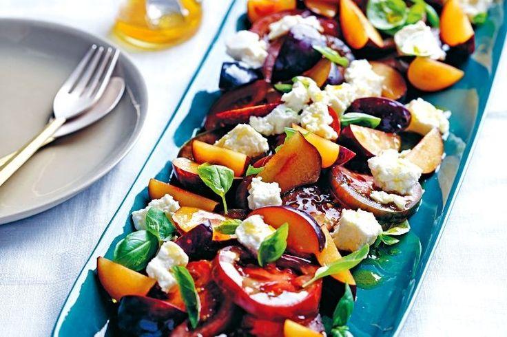 Tomato and plum salad
