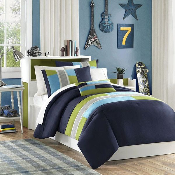 kidsu0027 comforter sets navy teal light green boys full comforter and shams set plus bonus pillow 4 pc set you can find more details by visiting the