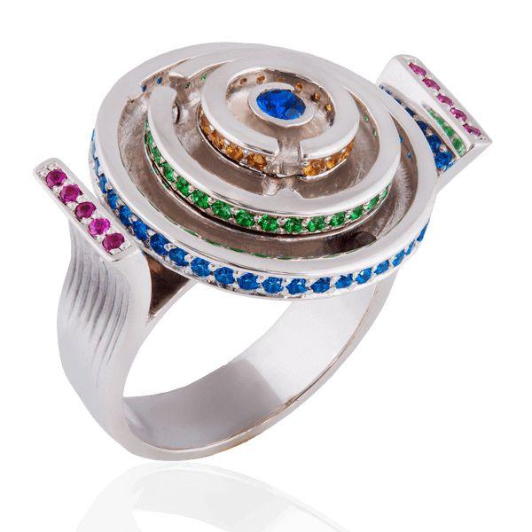 """""""Лабиринт"""". #jewellery #украина #эксклюзивныекольца #кольца #эксклюзивноекольцо #кольцаназаказ #драгоценныекамни #топаз #эксклюзивныеукрашения #золото #белоезолото #ювелирныеукрашения #prytulajewellery #jewelry #gold #golden #followme #кольцостопазом"""