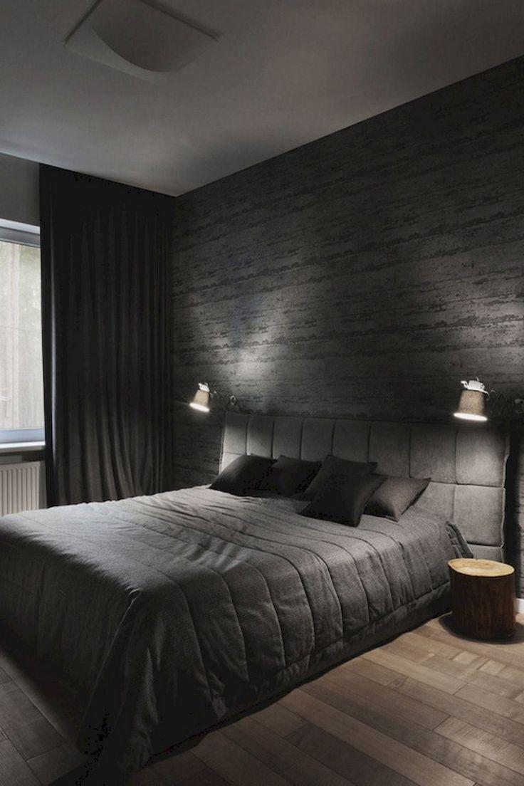 50 Stunning Creative Bedroom Wallpaper Decor Ideas Black Bedroom Decor Creative Bedroom Comfortable Bedroom Dark bedroom wallpaper ideas