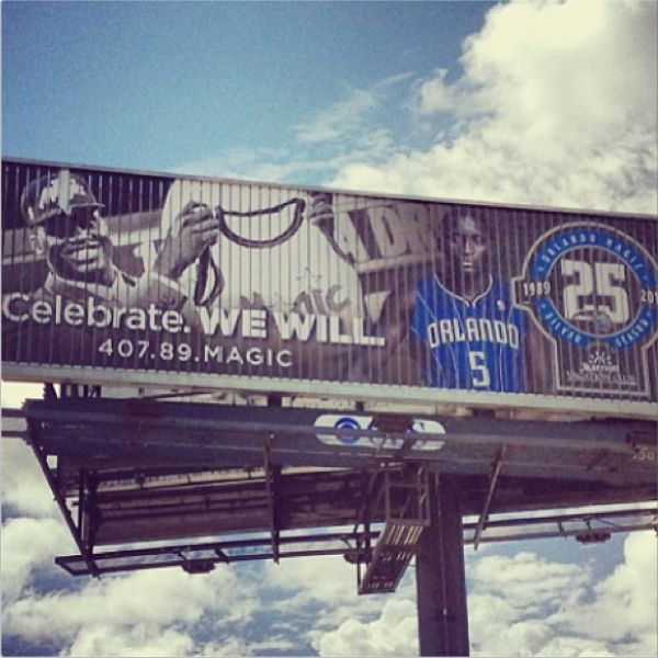 Thanks to @Marni Farrant Farrant Mooney for this photo of a new @Orlando_Magic billboard #iubb #Orlandipo - Orlando magic, Photo, Victor oladipo - 웹