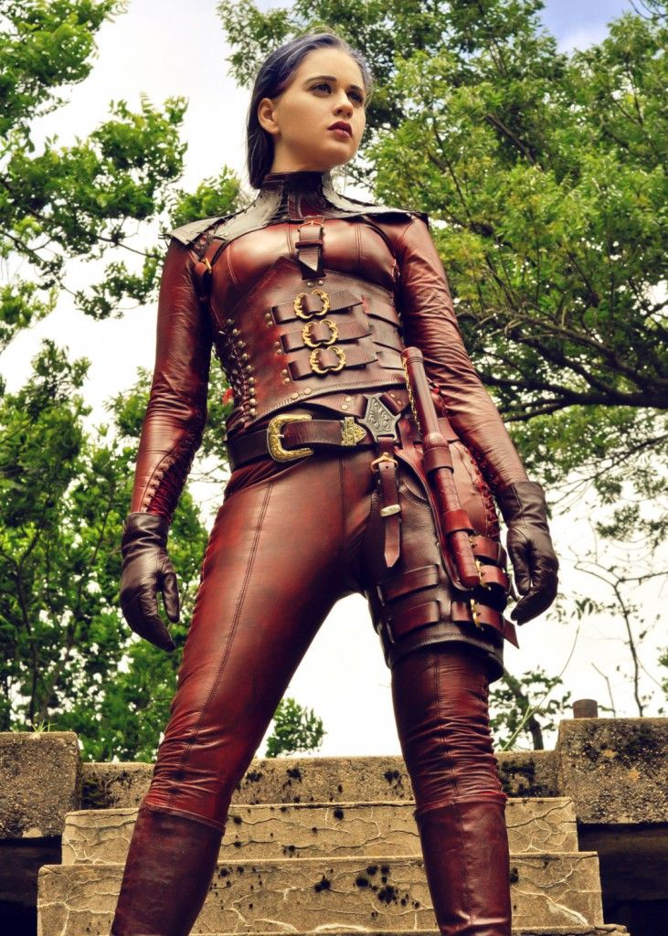 Full Leather Mord Sith Costume. Brown matte vinyl / faux leather fabric is available at: www.MJTrends.com
