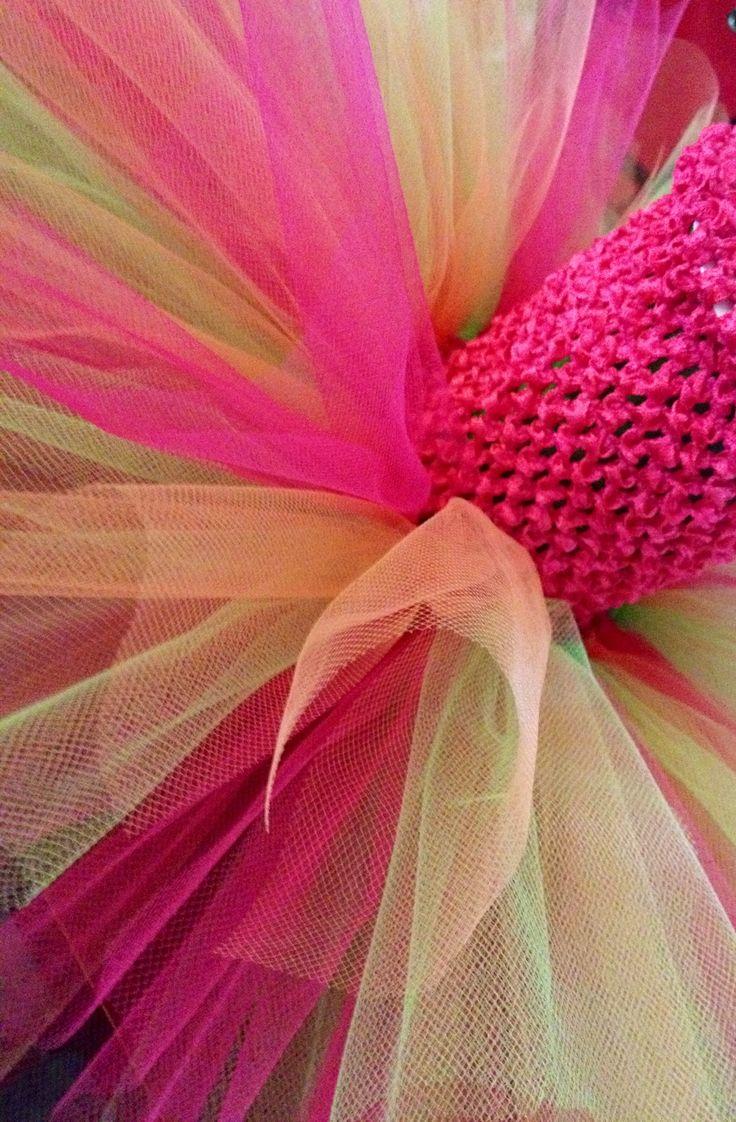 Pink Splash TuTu Dress custom Created @Binkys Boutique