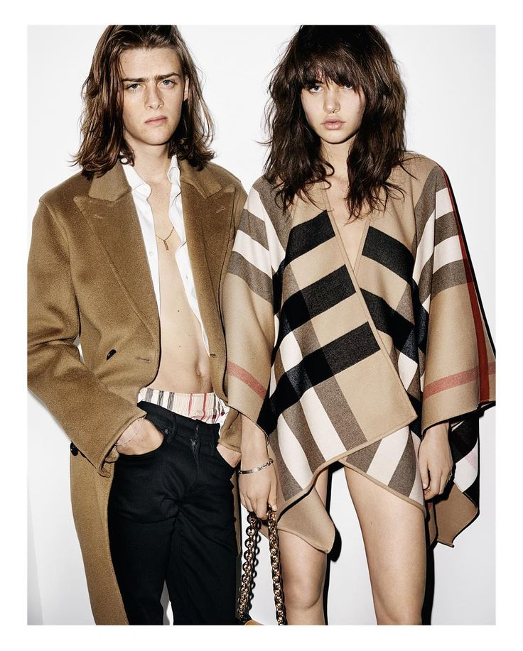 """Cashmere and check for @Burberry 2016  Ben Gregory and Misha Hart shot by @MarioTestino in the new campaign"""