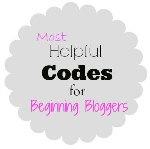 Tips for Beginning Bloggers {a.k.a. helpful codes for blog design}
