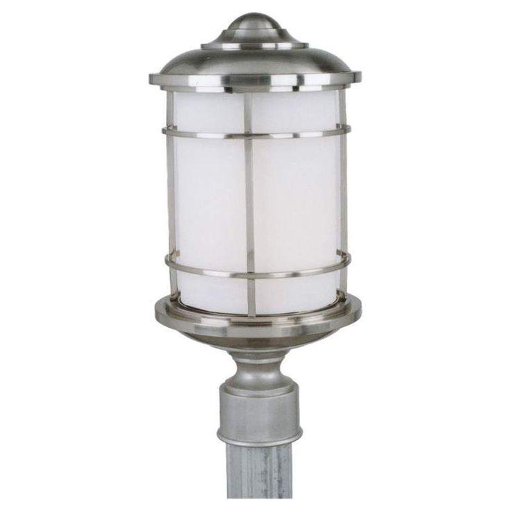 Murray Feiss Ol2207 Led Lighthouse 1 Light Led Outdoor Post Light Brushed Steel Outdoor Lighting