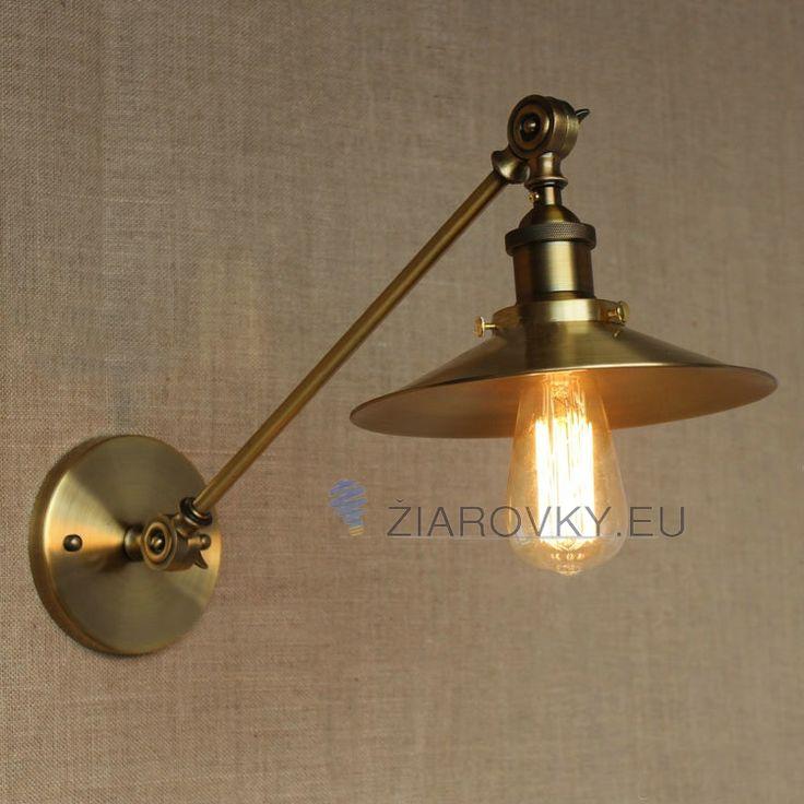 Historické nástenné svietidlo Foyer s nastaviteľným ramenom