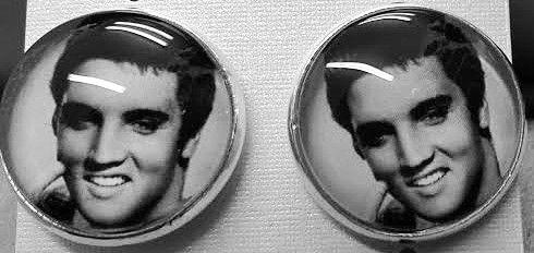 Elvis Presley stud earrings