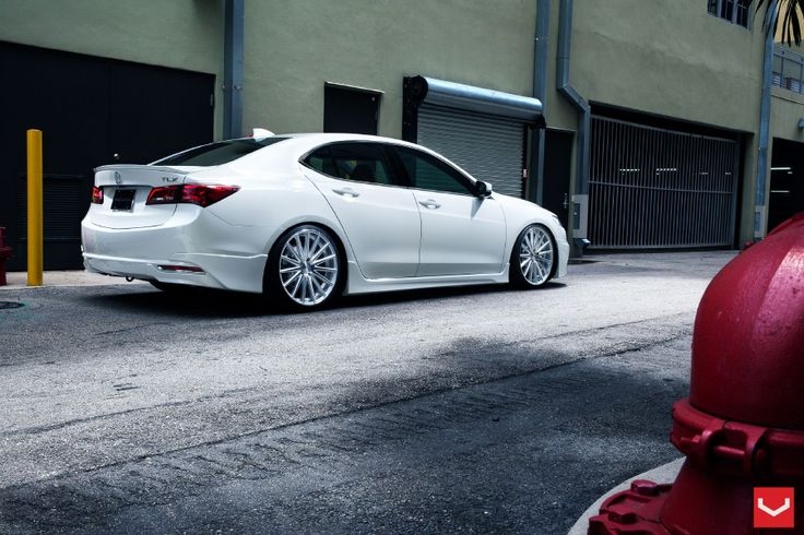 2015 White Acura TLX Rear Side View