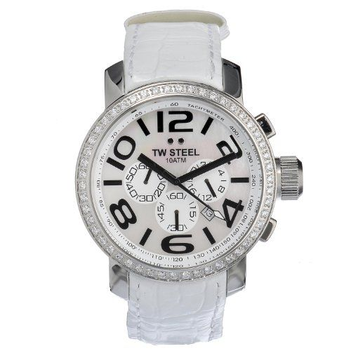 #Cute #Accessories Embellished with 52 white zirconia along the bezel, this Canteen timepiece from TW #Steel makes a fine watch for any man's collection. The sup...