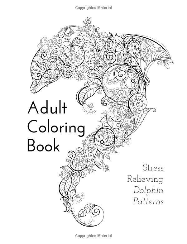 Abstract Dolphin Coloring Pages : Best images about abstract geometric coloring on