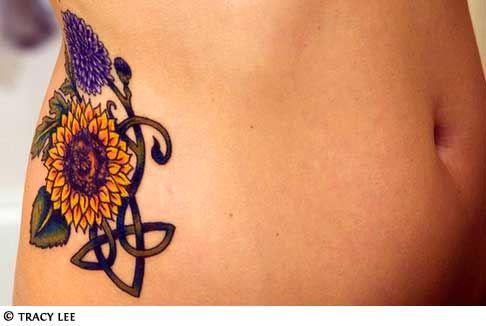celtic Sunflower Tattoo: Tattoo Ideas, Celtic Sunflower, Sunflower Tattoos, Sunflowers, Body Art, Tattoo'S, Tattoo Design, Hip Tattoos, Ink