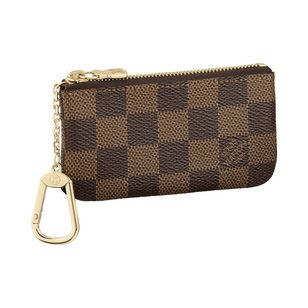 Louis Vuitton   Key Pouch in Damier Ebene.