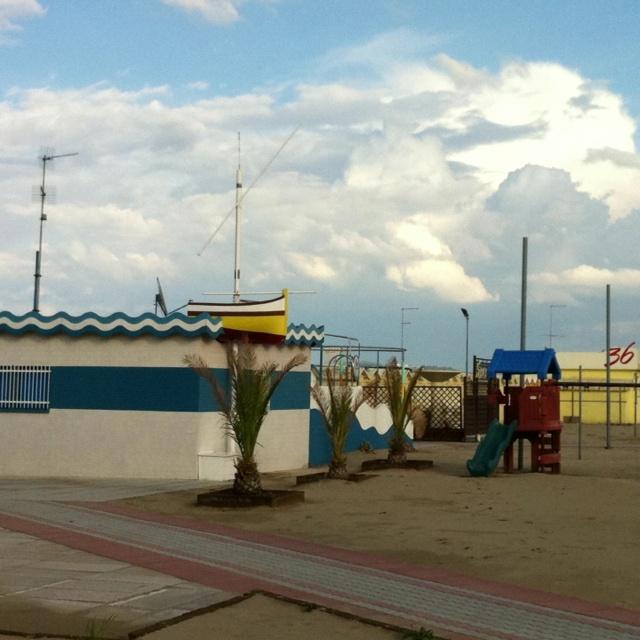 Nuvole in spiaggia