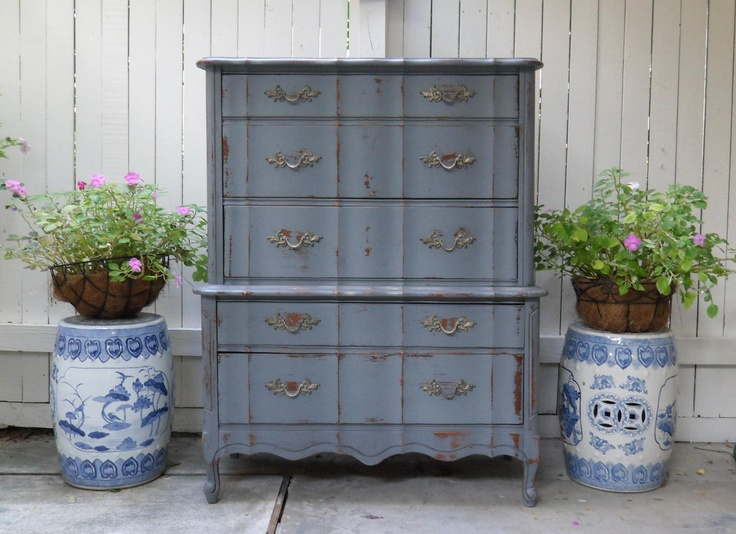 Vintage Painted Highboy Dresser Chest French Provincial Style. $400.00, Via  Etsy. Houston