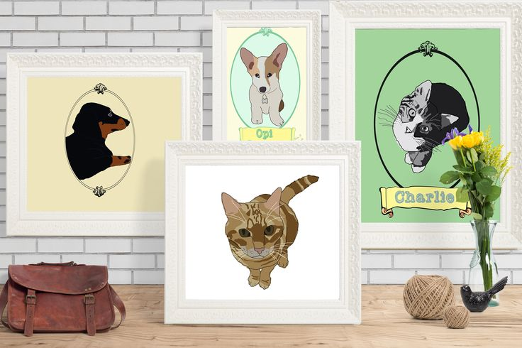 A personal favourite from my Etsy shop https://www.etsy.com/au/listing/536317925/custom-illustrated-pet-portrait-digital