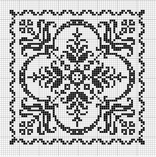 Tantes Zolder square cross-stitch - free