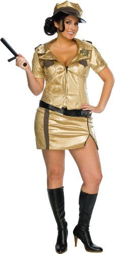 Secret Wishes Reno 911 Full Figure Deputy Johnson Costume Gold Plus