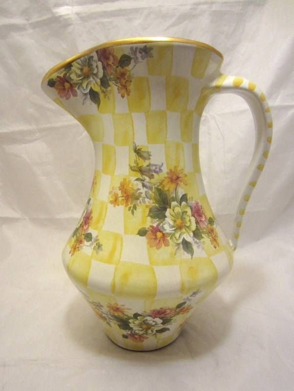 Mackenzie Childs Honeymoon Yellow Lemon Curd Pottery