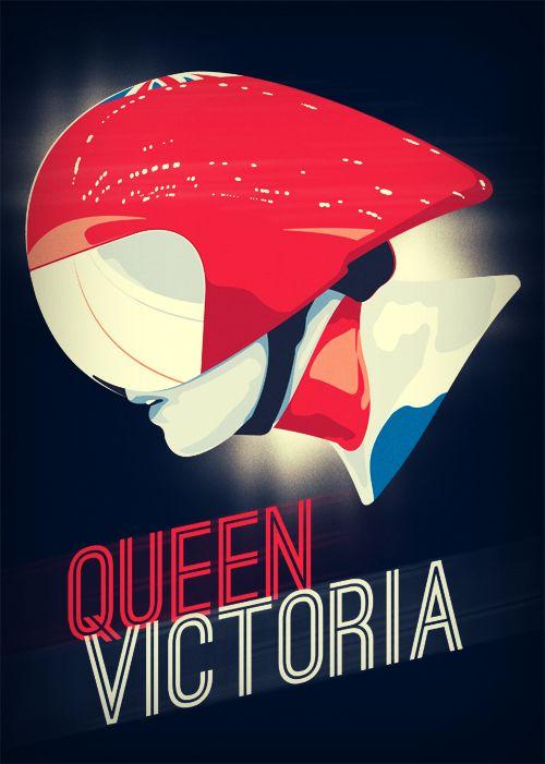 Queen Victoria - Vector illustration of GB Track Cyclist Victoria Pendleton #teamgb