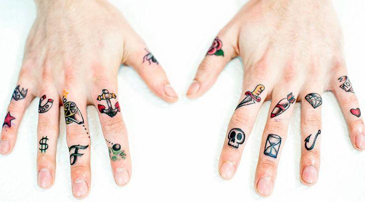 Тату на пальцах - 100 ФОТО! | Татуировка палец, Маленькие ...