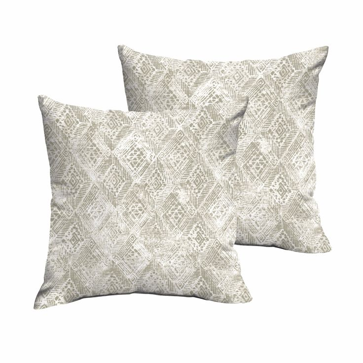 Fellows and White Indoor/ Outdoor Knife Edge Pillow Set