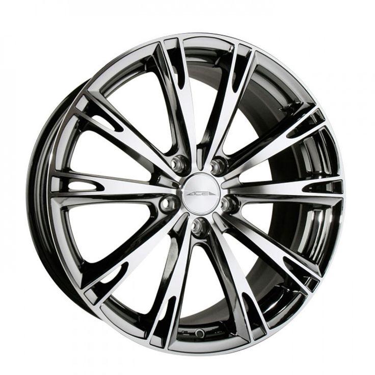"Acura Tl Slammed Black On Black: 20"" ACE ASPIRE BLACK CHROME CONCAVE WHEELS RIMS FITS ACURA"