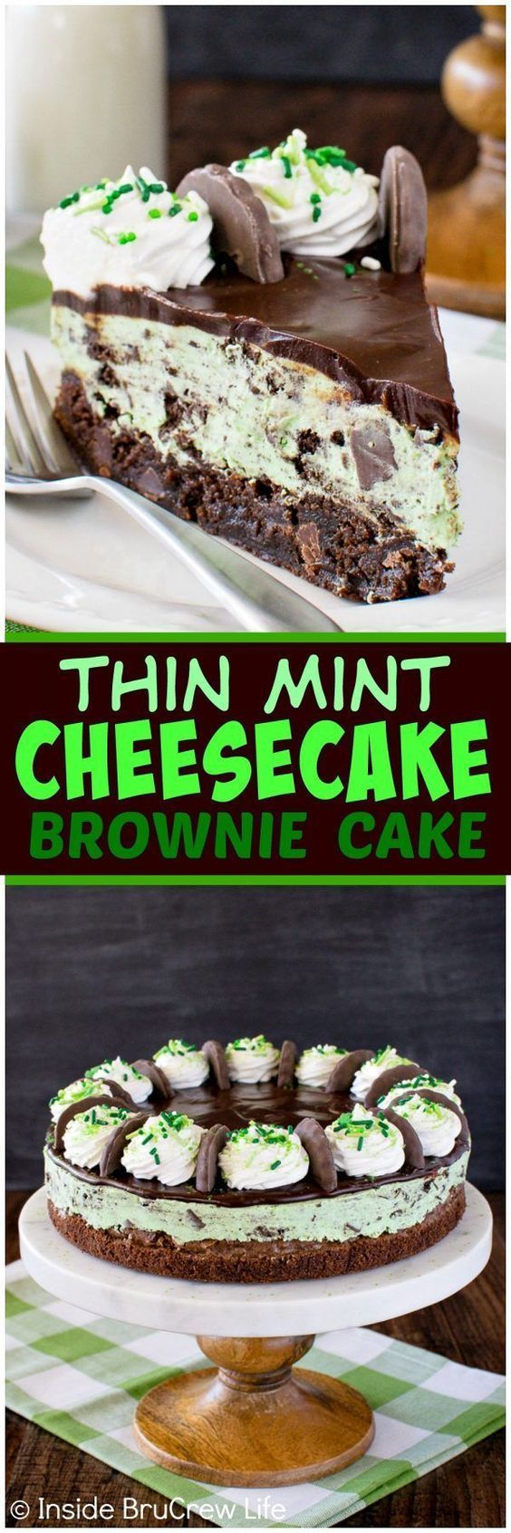 2799 Best Desserts Images On Pinterest Baking Conch Fritters And Kue Brownis By Nature Cakes Bali Thin Mint Cheesecake Brownie Cake Layers Of Chocolate No Bake Cookie Chewy Brownies Make This A Fun To
