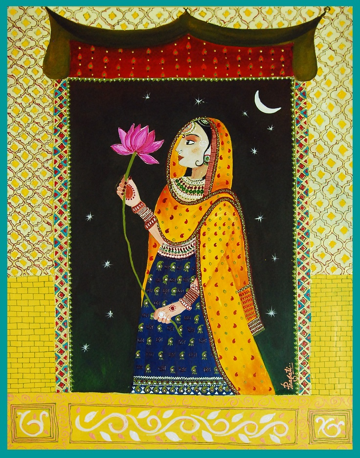 """A Ragamala painting in Rajasthani MIniature Style.   11"""" X 14""""   Water color on Gouache paper: Miniatures Paintings, Ragamala Paintings, Water Colors, Photo"""