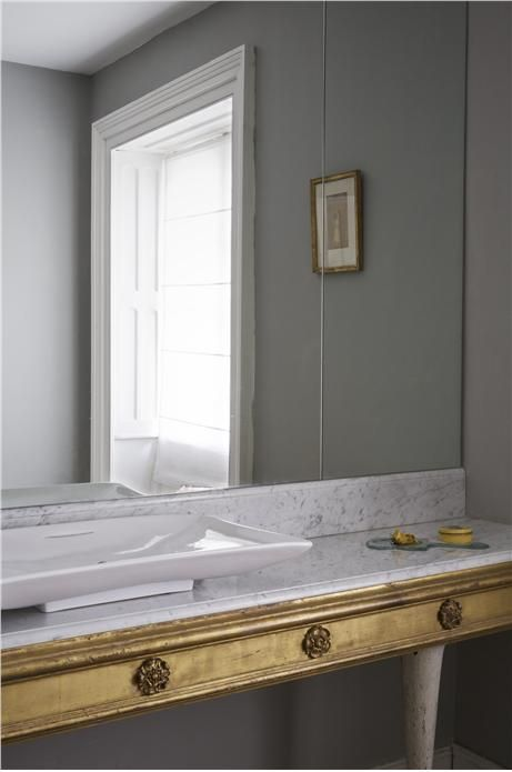 An inspirational image from Farrow and Ball - Lamp Room Gray No.88