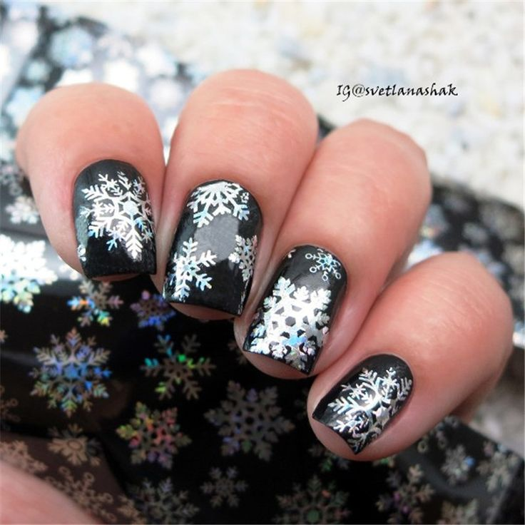 Holographic Snowflake Nail Foils White Snow Christmas Design Nail Art Foil Transfer Sticker Paper Decals 4*100cm