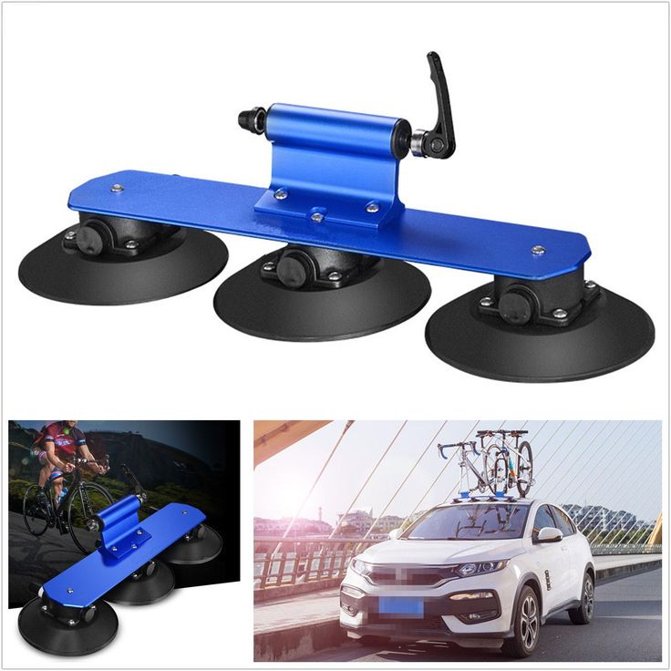 Blue Aluminum Alloy Vehicles Roof-Top Rack Suction Bicycles Bike Holder Carrier