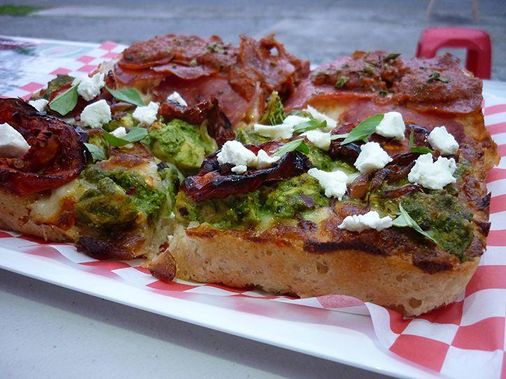 Pizza estilo Detroit en Roma Rodante, una novedad en Guadalajara ¿Se ve rica? ¿La probarás?
