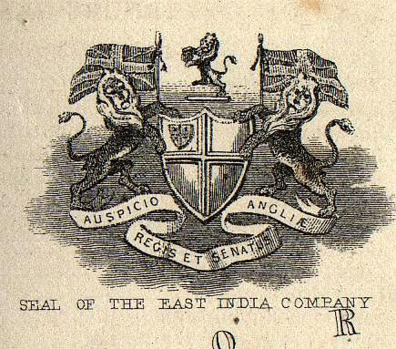 If you have seen our Admiral Gardner coins then you are familiar with this seal. British East India Company.